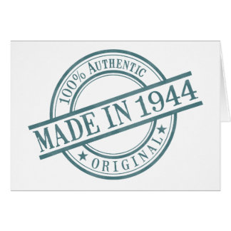 Made in 1944 card