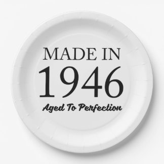 Made In 1946 Paper Plate