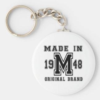MADE IN 1948 ORIGINAL BRAND BIRTHDAY DESIGNS KEY RING
