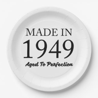 Made in 1949 9 inch paper plate