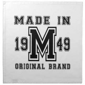 MADE IN 1949 ORIGINAL BRAND BIRTHDAY DESIGNS NAPKIN