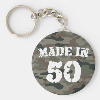Made In 1950 Basic Round Button Key Ring