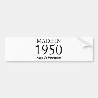 Made In 1950 Bumper Sticker