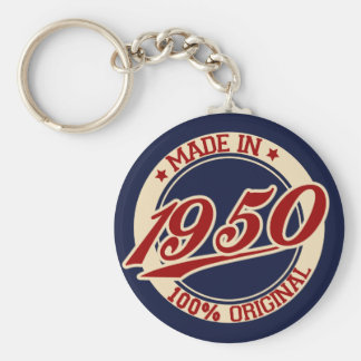 Made In 1950 Keychains