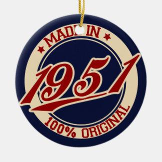 Made In 1951 Ceramic Ornament