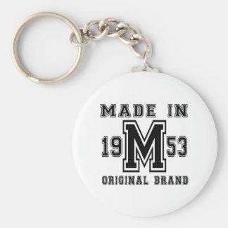 MADE IN 1953 ORIGINAL BRAND BIRTHDAY DESIGNS KEY RING