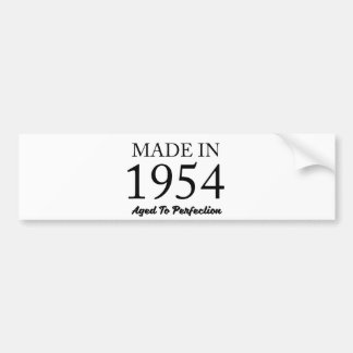 Made In 1954 Bumper Sticker