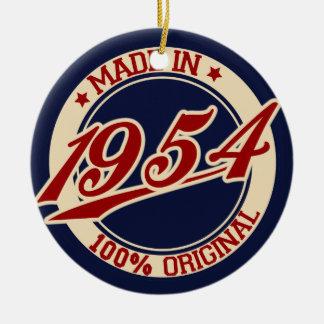 Made In 1954 Round Ceramic Decoration