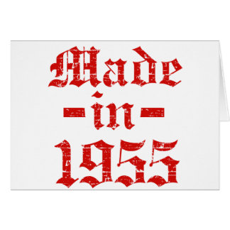 Made in 1955 designs greeting card
