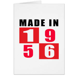 Made In 1956 Birthday Designs Greeting Card