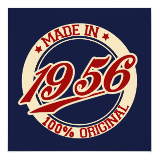 Made In 1956 Card