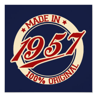 Made In 1957 Card