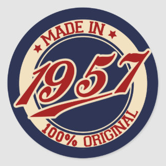 Made In 1957 Classic Round Sticker