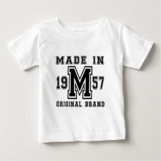 MADE IN 1957 ORIGINAL BRAND BIRTHDAY DESIGNS BABY T-Shirt