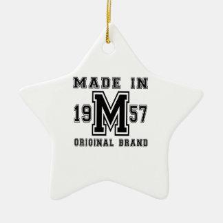 MADE IN 1957 ORIGINAL BRAND BIRTHDAY DESIGNS CERAMIC ORNAMENT