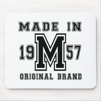 MADE IN 1957 ORIGINAL BRAND BIRTHDAY DESIGNS MOUSE PAD