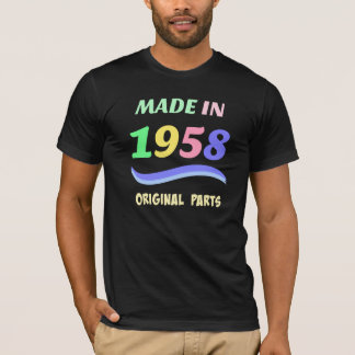 Made in 1958, colorful text design T-Shirt