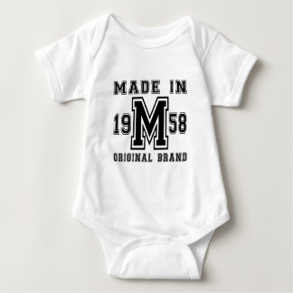 MADE IN 1958 ORIGINAL BRAND BIRTHDAY DESIGNS BABY BODYSUIT