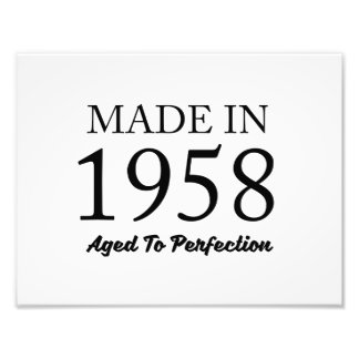 Made In 1958 Photo Print
