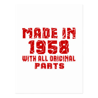 Made In 1958 With All Original Parts Postcard