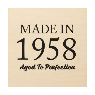 Made In 1958 Wood Wall Art