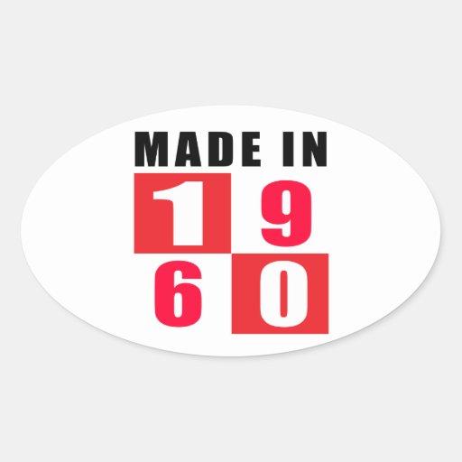Made In 1960 Birthday Designs Sticker