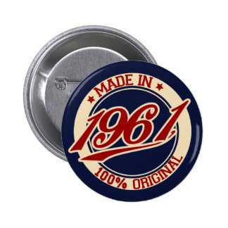 Made In 1961 6 Cm Round Badge