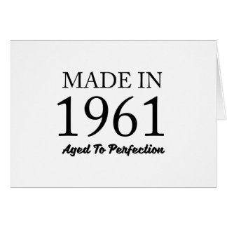 Made In 1961 Card