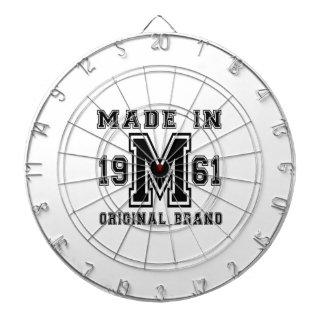 MADE IN 1961 ORIGINAL BRAND BIRTHDAY DESIGNS DARTBOARD