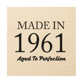 Made In 1961 Wood Canvases