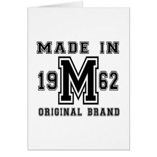 MADE IN 1962 ORIGINAL BRAND BIRTHDAY DESIGNS CARD