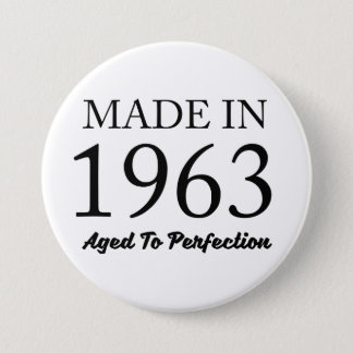 Made In 1963 7.5 Cm Round Badge