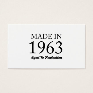 Made In 1963 Business Card