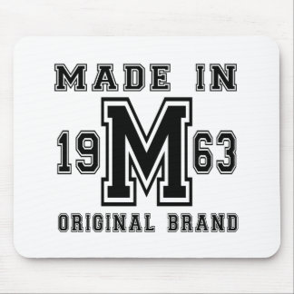 MADE IN 1963 ORIGINAL BRAND BIRTHDAY DESIGNS MOUSE PAD