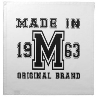 MADE IN 1963 ORIGINAL BRAND BIRTHDAY DESIGNS NAPKIN