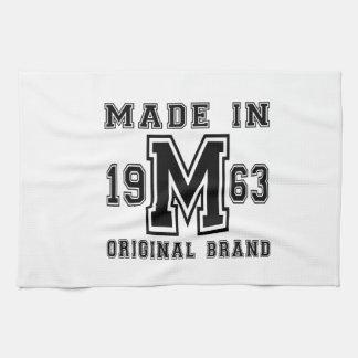 MADE IN 1963 ORIGINAL BRAND BIRTHDAY DESIGNS TEA TOWEL