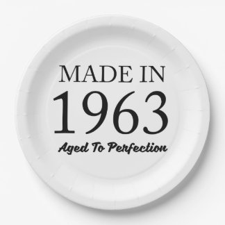 Made In 1963 Paper Plate