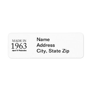 Made In 1963 Return Address Label