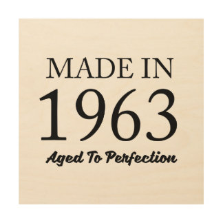 Made In 1963 Wood Canvases