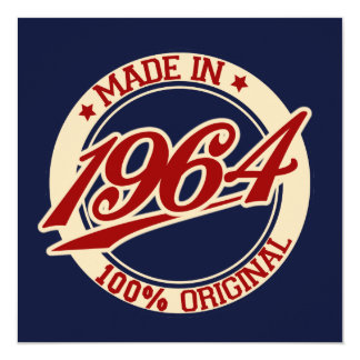 Made In 1964 13 Cm X 13 Cm Square Invitation Card
