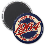 Made In 1964 Fridge Magnets