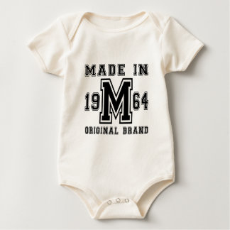 MADE IN 1964 ORIGINAL BRAND BIRTHDAY DESIGNS BABY BODYSUIT