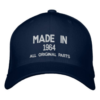 Made in 1964 Original Parts Embroidered Cap