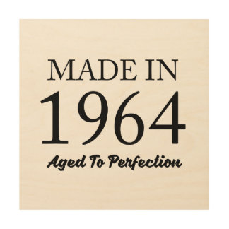 Made In 1964 Wood Wall Art