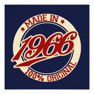 Made In 1966 13 Cm X 13 Cm Square Invitation Card
