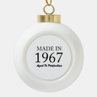 Made In 1967 Ceramic Ball Decoration