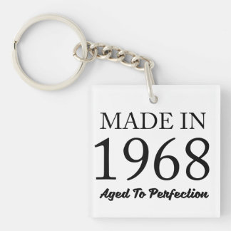 Made In 1968 Key Ring