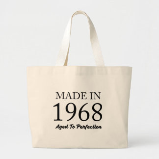 Made In 1968 Large Tote Bag