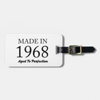 Made In 1968 Luggage Tag