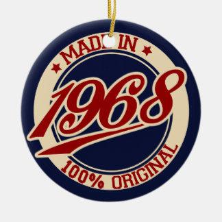 Made In 1968 Round Ceramic Decoration